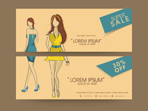 Concept of sale header. Royalty Free Stock Photography