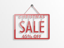 Concept of sale poster for Christmas celebration. Royalty Free Stock Photo