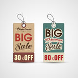 Concept of sale tag for Christmas celebration. Royalty Free Stock Image