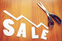 Concept of  sales falling Royalty Free Stock Photo