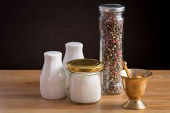 Concept of salt and pepper accessories Royalty Free Stock Photography
