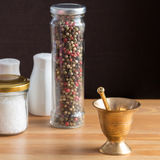 Concept of salt and pepper accessories Royalty Free Stock Image