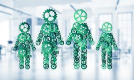 Concept samenwerking of misschien familie met twee cijferspresenti Stock Fotografie