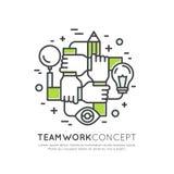 Concept Samenwerkingsgroepswerk, Groep, Vennootschap royalty-vrije illustratie