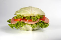 Concept of Sandwich with ham. Royalty Free Stock Image