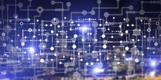 Concept sans fil de connexion ou de mise en réseau comme moyens de communication et l'interaction sociale Images libres de droits