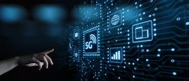 concept sans fil mobile d'affaires d'Internet du réseau 5G photos stock