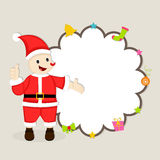 Concept of a Santa with blank frame. Stock Photography