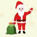 Concept of Santa Claus with gift sack. Stock Photos