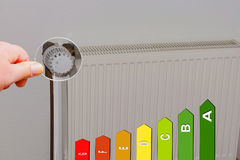Concept  save heating costs. Stock Image