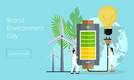 Concept of save the planet, save energy vector illustration