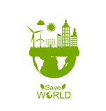 Concept of Save World Stock Images