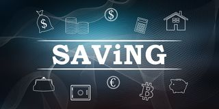 Concept of saving royalty free illustration