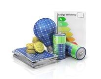 Concept of saving money if use solar energy. Stock Photo
