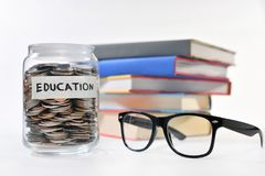 Concept of saving money. Image on concept of saving money for education Stock Photo