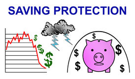 Concept of saving protection Stock Photography