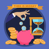Concept for saving time and money Royalty Free Stock Photo