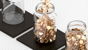 Concept Savings Money in Bank Jar