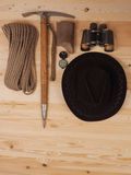 Concept. scene expedition in retro style Royalty Free Stock Photo
