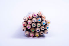 Concept for school start with a pack of colorful pencils Royalty Free Stock Image