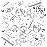 Concept of science doodles. Royalty Free Stock Image