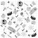 Concept of science doodles. Royalty Free Stock Photo