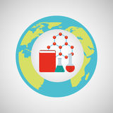 Concept science elements lab icon graphic Royalty Free Stock Photography