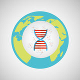 Concept science lab dna medical icon graphic Stock Photo