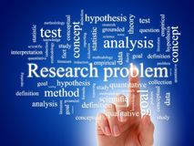 Concept of scientific research. Royalty Free Stock Photo