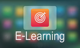 Concept scolaire de programme d'application temps réel d'éducation d'apprentissage en ligne Photo stock