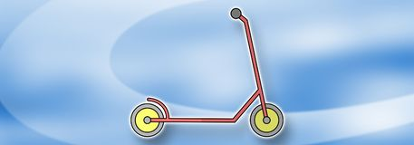 Concept of scooter stock photography