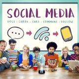 Concept se reliant de message social de Media Communication photographie stock