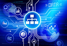 Concept se reliant de technologie d'Infographic des informations sur les données Photos stock