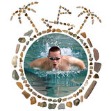 Concept With Sea Stones and Photo Stock Photo