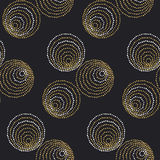 Concept seamless luxury pattern with dots Stock Photos