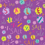 Concept seamless pattern. Sale concept seamless pattern in Stock Image