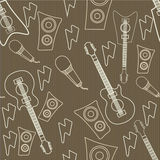 Concept of seamless pattern with musical instrument. Royalty Free Stock Photo