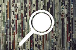 Concept of search anything. stock image