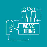 Concept search better candidate. Recruitment. Concept search better candidate for open position. We are hiring, hr vector illustration