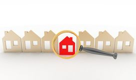Concept of search of house for residence Royalty Free Stock Photography