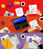 Concept of searching professional staff, analyzing Royalty Free Stock Image