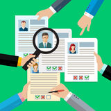Concept of searching professional staff Royalty Free Stock Photo