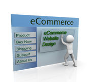 Concept of secure ecommerce web design stock illustration