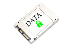 Concept secured data drive Stock Photo