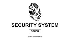 Concept of security system. On white background Royalty Free Stock Image