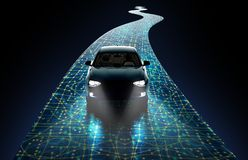 Concept of self-driving car Stock Images