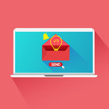 Concept send email idea. Vector design concept  Send Email idea Royalty Free Stock Images