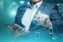 Concept sensible de technologie d'Internet d'affaires de site Web de Desing de Web image stock