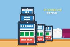 Concept sensible de web design Images libres de droits