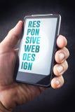 Concept sensible de web design Photographie stock libre de droits